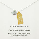 b.u. Peace Be With You Necklace