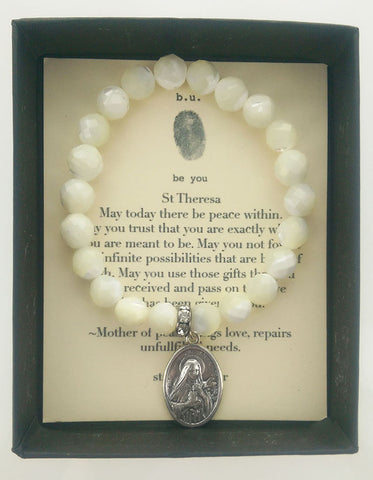 b.u. St Theresa Peace Within Bracelet