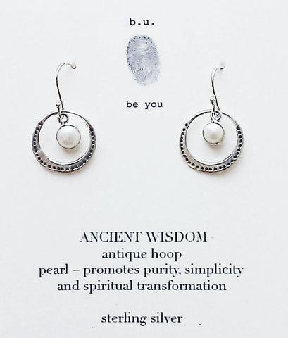 b.u. Ancient Wisdom Hoop Earrings