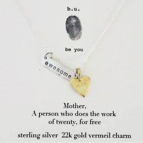 b.u. Awesome Mom Necklace