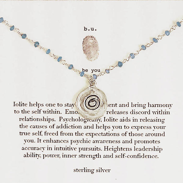 b.u. Iolite Zen Harmony Circle Necklace