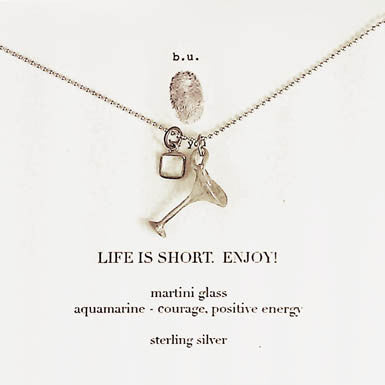 b.u. Life Is Short Necklace