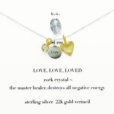 b.u. Love Love Loved Necklace