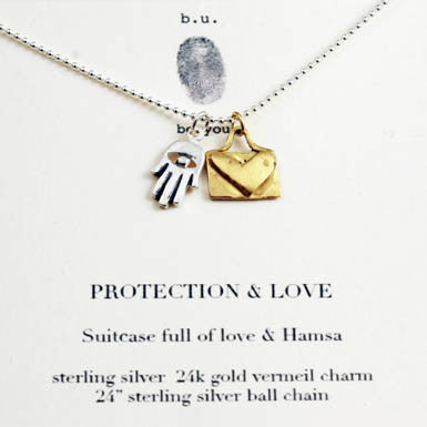 b.u. Protection And Love necklace