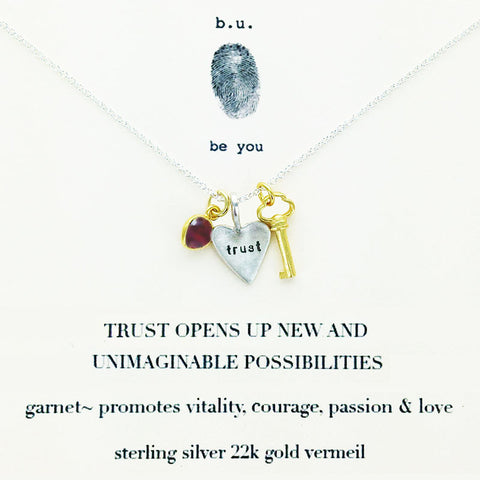 b.u. Trust Opens Up New Possibilities Necklace