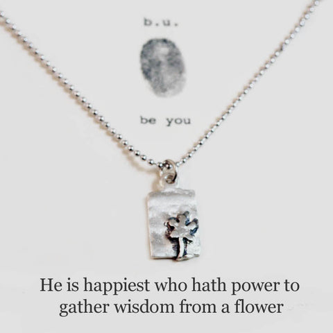 b.u. Wisdom From A Flower Necklace