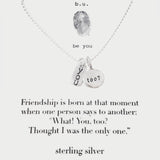 b.u. You Too? Friendship Necklace
