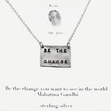 b.u. Be The Change Gandhi Necklace