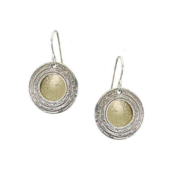 Marjorie Baer Framed Golden Orb Earrings