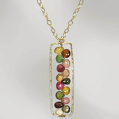 Faceted Tourmaline Kaleidoscope Necklace