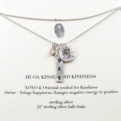 Hugs Kisses Kindness Necklace
