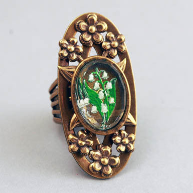 Jan Michaels Lily Of The Valley Ring