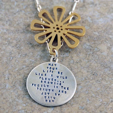 "Kathy Bransfield ""May Your Life Be Like A Wild Flower..."" Necklace"
