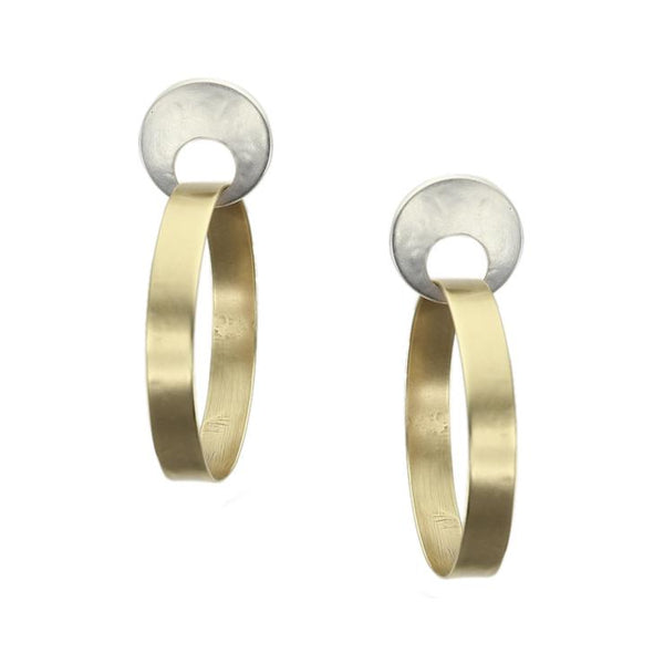 Marjorie Baer Open Disc Hoop Post Earrings