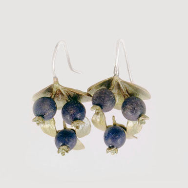 Michael Michaud Triple Blueberry Earrings