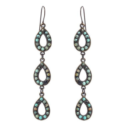 Rebel Triple Teardrop Earrings