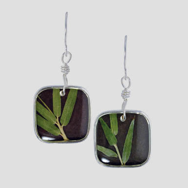 Shari Dixon Mini Square Bamboo Earrings