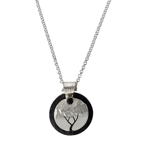 Stuart Peterman Full Moon Tree Silhouette Necklace