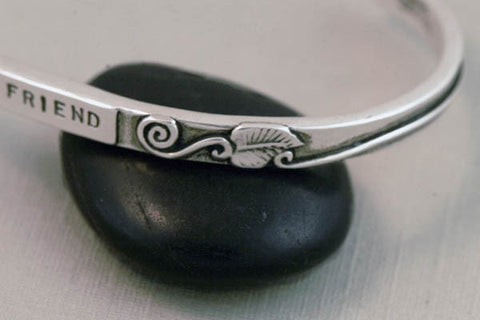 """My Friend"" Bracelet in Sterling Silver"