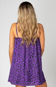 Sandra Swing Dress - Purple Cat