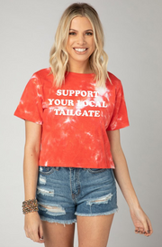 Watson Tie Dye Cropped Tee - Support Your Local Tailgate