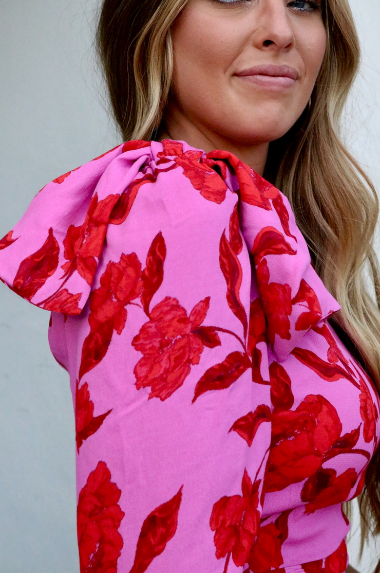 La Vie En Rose One Shoulder Top