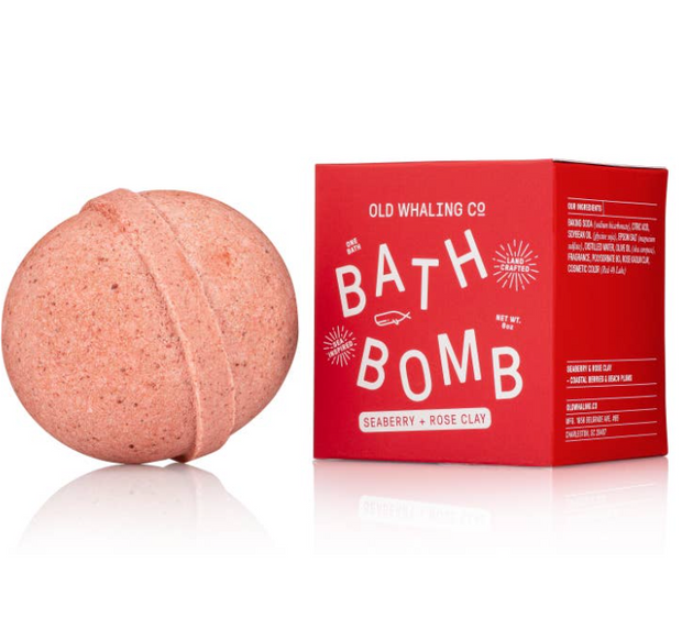 Seaberry + Rose Clay Bath Bomb