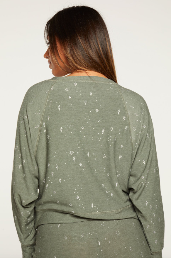 Stars & Bolts Cropped Sweatshirt