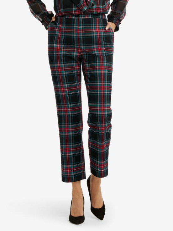 Cropped Pant - Georgia Plaid