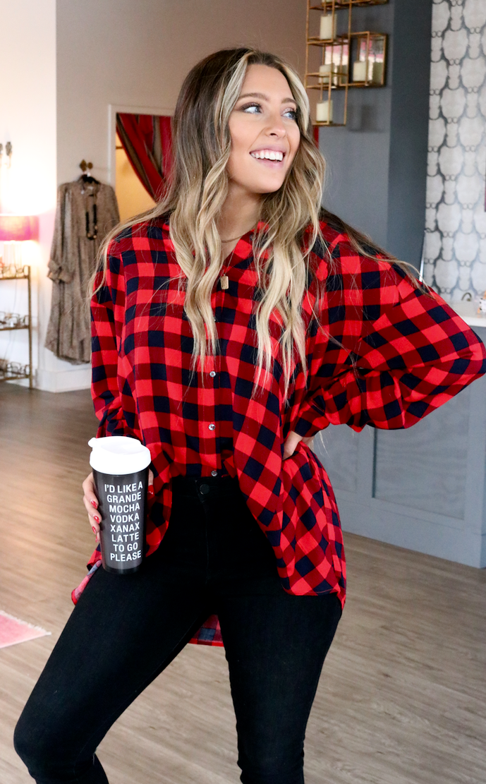 Winter Park Plaid Button Up
