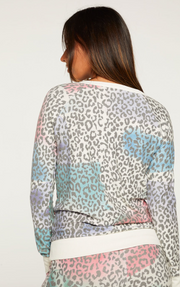 Painted Leopard Pullover