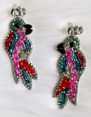 Prissy the Parrot Earring