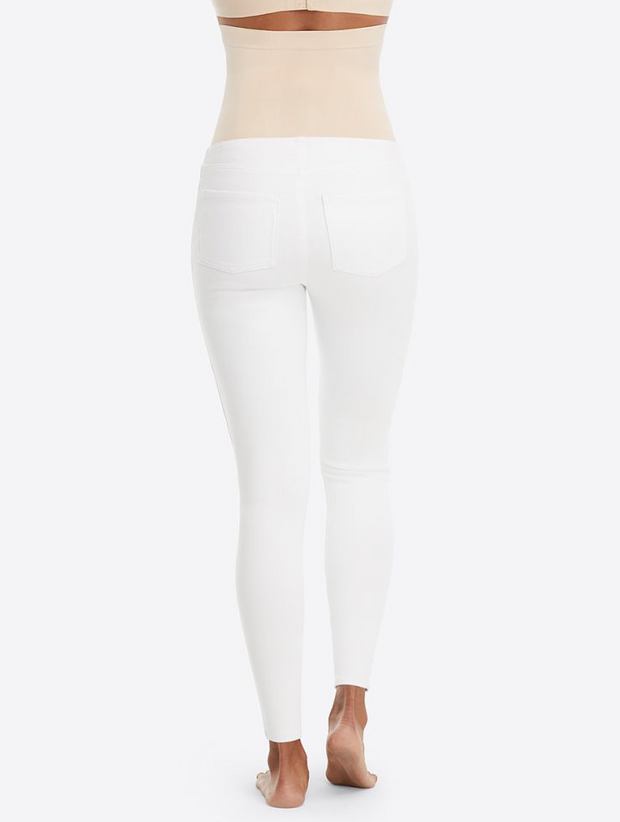 Mama Ankle Jean-ish Leggings - White