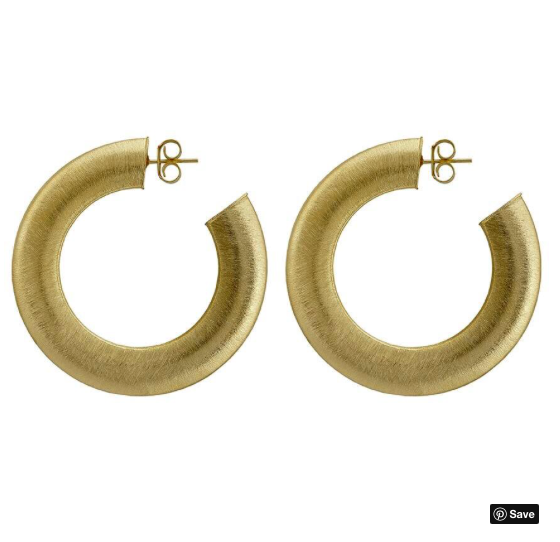 Irene Hoop Earring - Brushed Gold