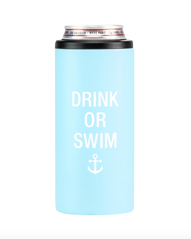 Drink or Swim Slim Can Cooler