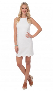 Southern Tide Charleston Scallop Dress - White