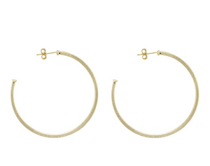 SF BR1207 Perfect Hoops - 18k Brushed Gold Plated