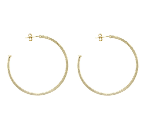 BR1207 Sheila Fajl Perfect Hoops - 18k Brushed Gold Plated