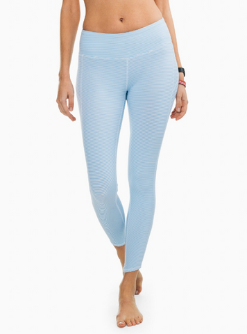 Southern Tide Skipstripe Performance Legging - Sky Blue