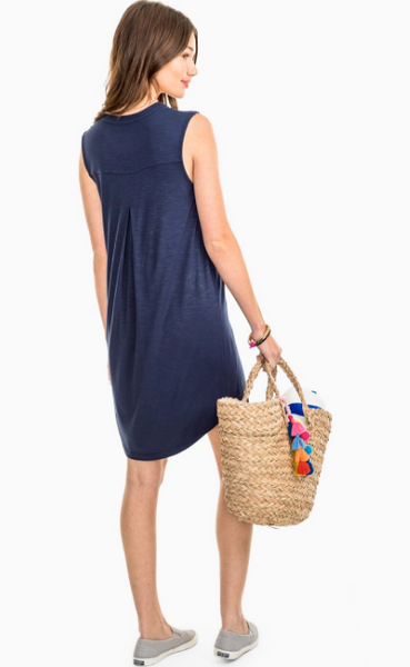 Southern Tide Jamie Slub Dress - Nautical Navy