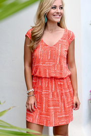 Southern Tide Sleeveless Gameday Dress - Endzone Orange