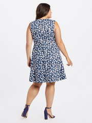 Draper James Floral Love Circle Dress - Nassau Navy