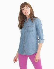 Southern Tide Emery Chambray Top