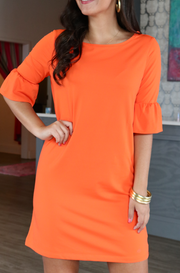 Southern Tide Logo Dress - Endzone Orange - Clemson