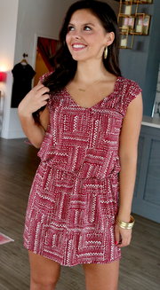 Southern Tide Sleeveless Gameday Dress - Chianti
