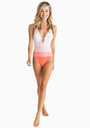 Pink Ombre One Piece Swimsuit