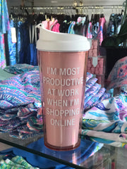 Online Shopping Travel Mug
