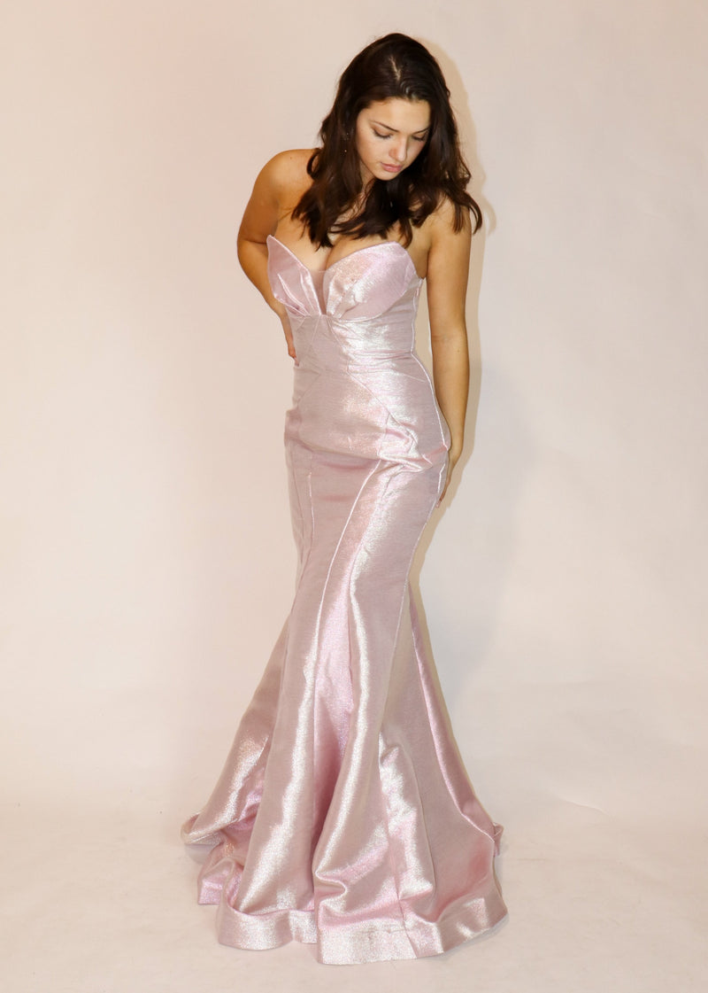 Baby Pink Strapless Gown