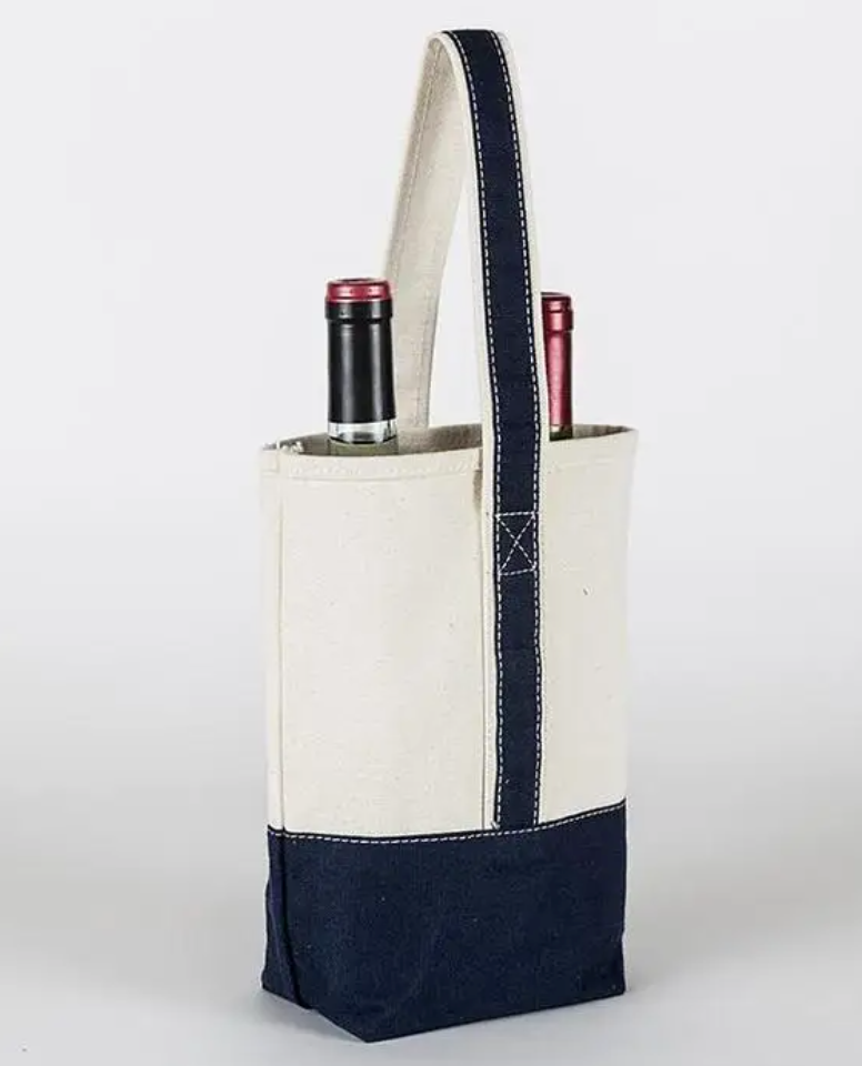 Double Wine Bag - Black - Cason Couture