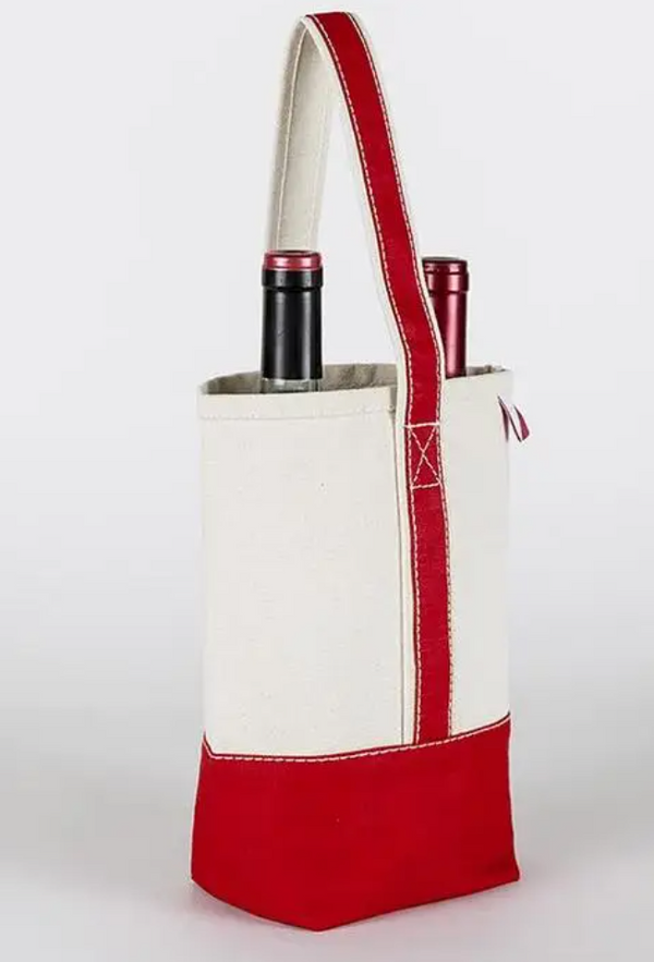 Double Wine Bag- Red - Cason Couture